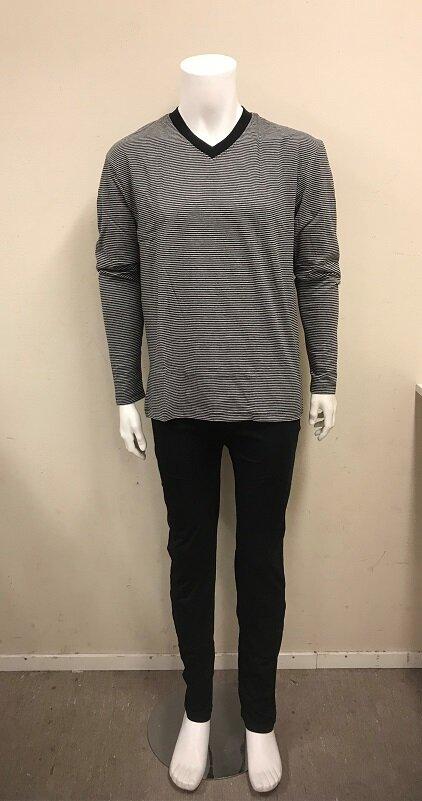 Pyjamas med långa ärmar och ben - Black