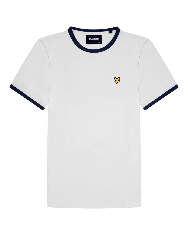 Ringer T-Shirt - White / Navy