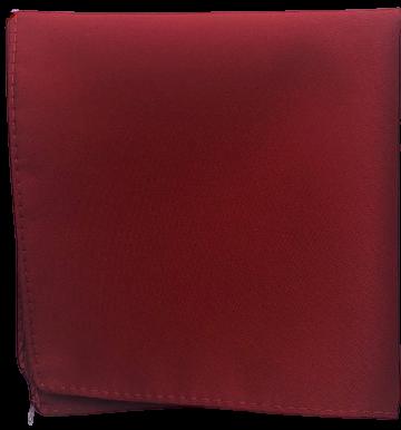 Enfärgad Ficknäsduk - 111 Mörkröd