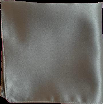 Enfärgad Ficknäsduk - 129 Silvergrå