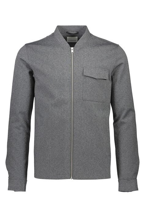 Overshirt Zip med fickor - Grey Mix