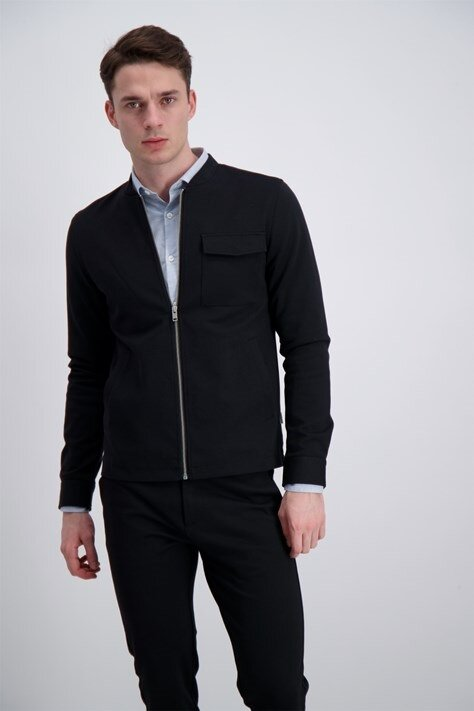 Overshirt Zip med fickor - Black
