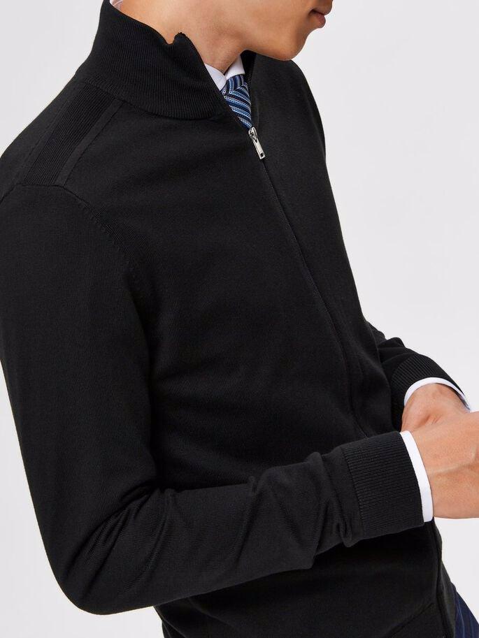 Slhberg Full Zip Cardigan - Black