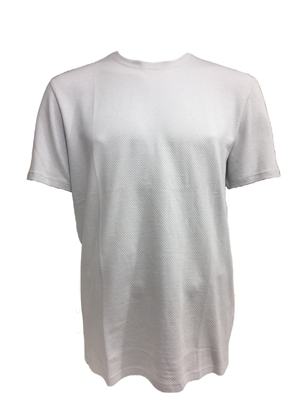 Våfflad T-Shirt O-neck - Grey Melange