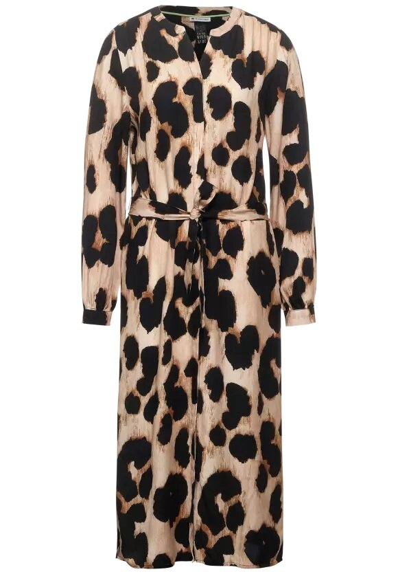 Leopardklänning knyt - Savannah Sand