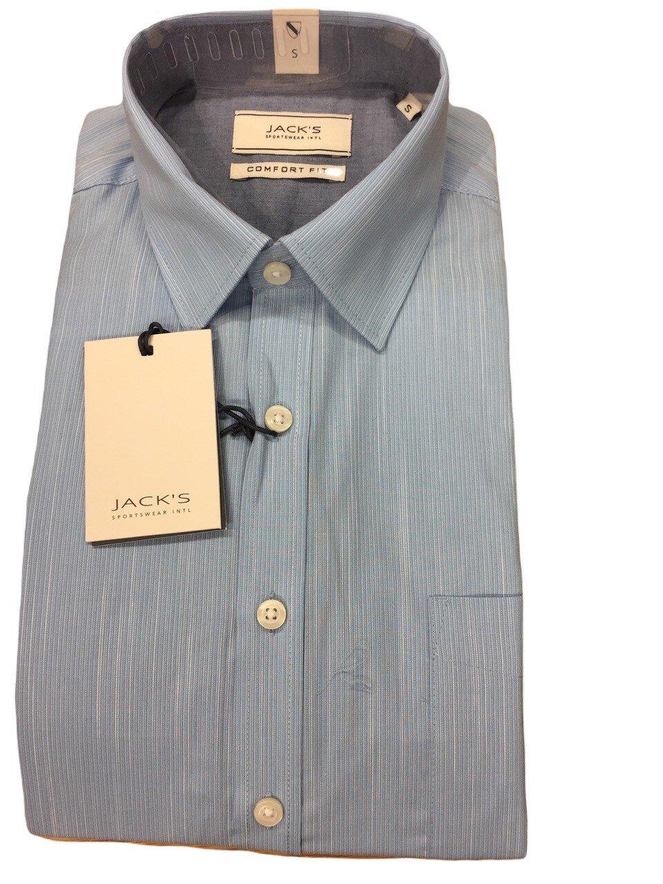 Skjorta I Bomullsmix - Light Blue
