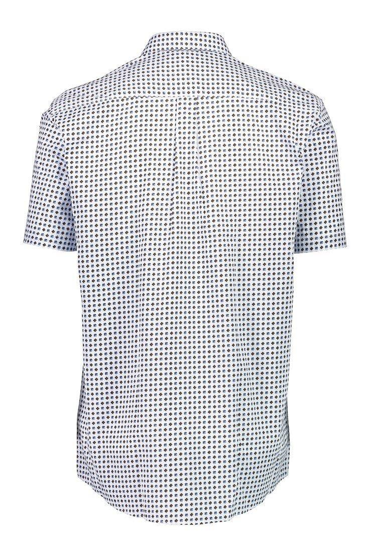 Kortärmad Skjorta - White