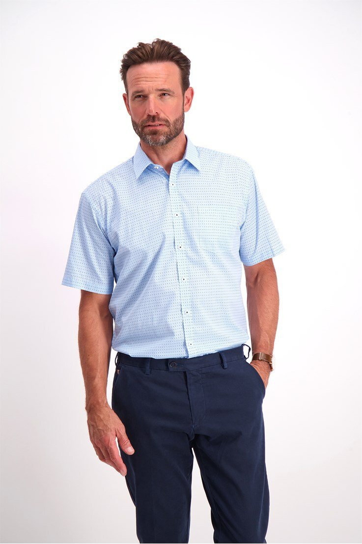 Kortärmad Skjorta - Blue