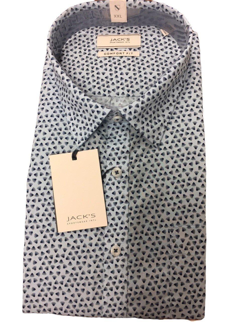 Skjorta i Bomullsmix - Lt Blue