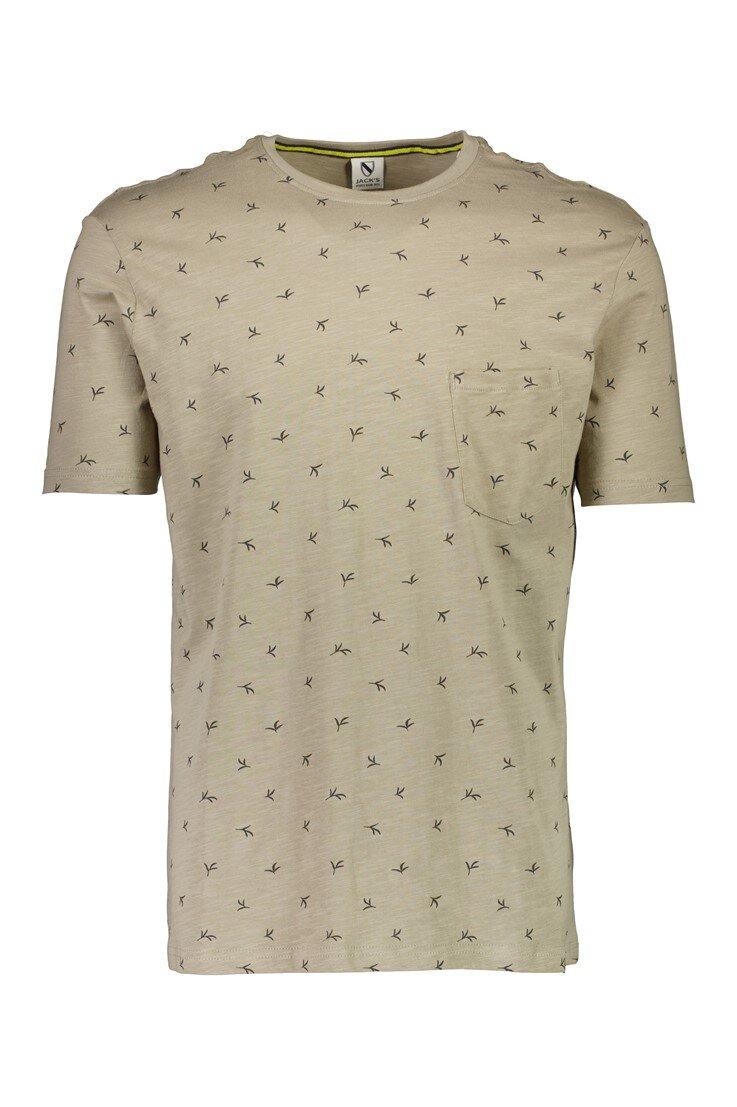 Mönstrad T-shirt - Sand
