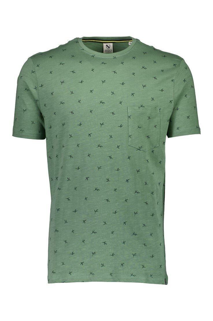 Mönstrad T-shirt - Green
