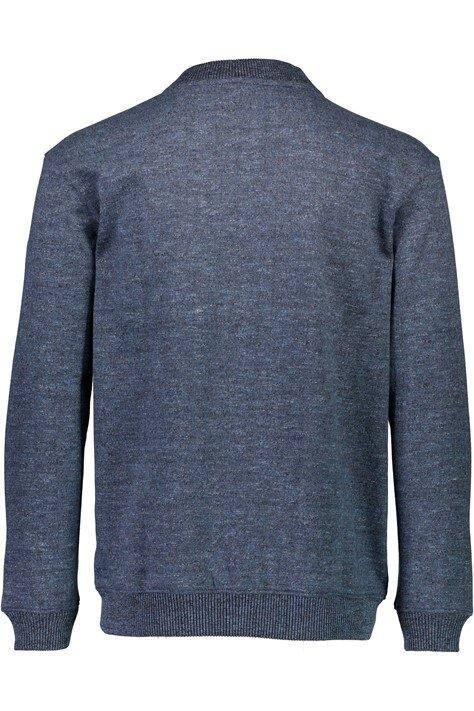 Full Zip Sweat Shirt - Blue Mix