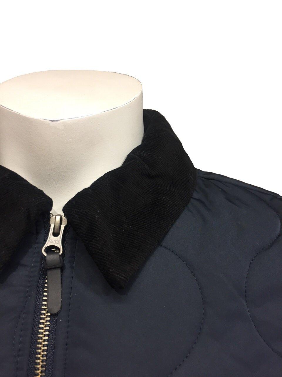 Quilted Jacket Skjortkrage - Navy