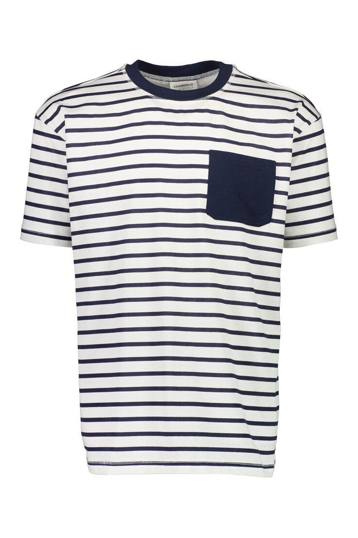 Oversize Stripe T-Shirt - White