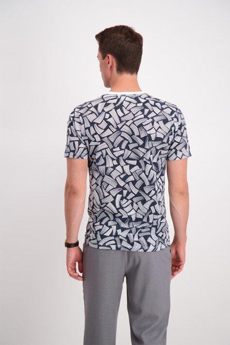 Grafisk T-shirt - Navy