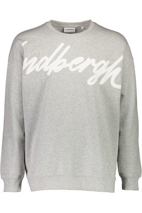 Sweatshirt Med Logga - Grey Mel