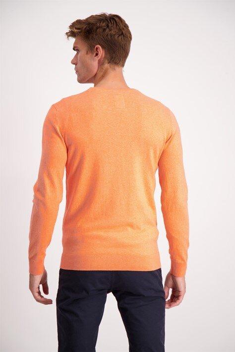 Bomullströja o-neck - Peach Mel