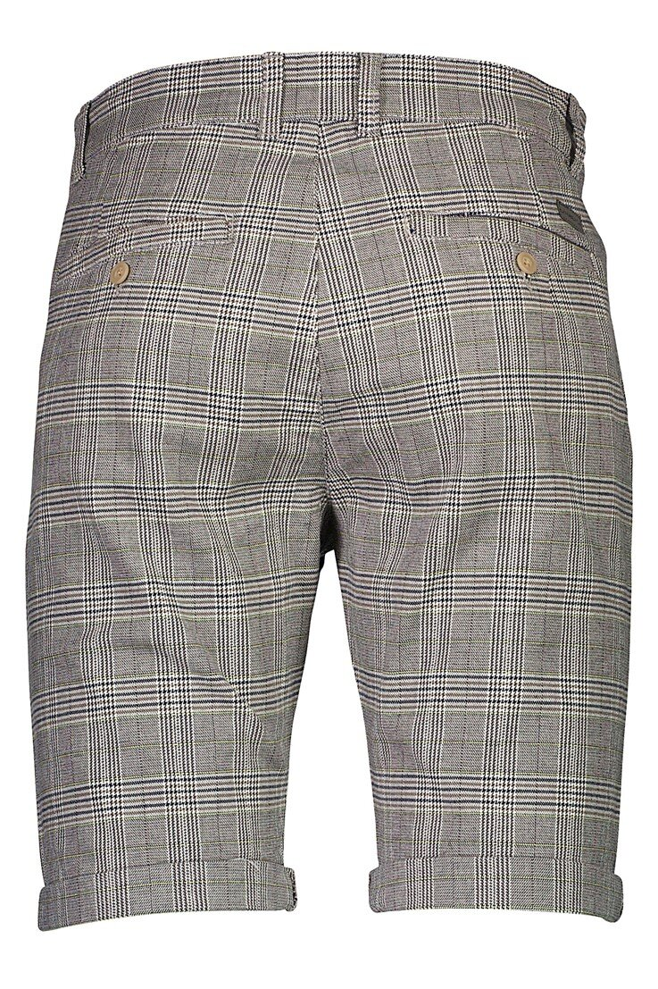 Pleated Superflex Shorts - Grey Check