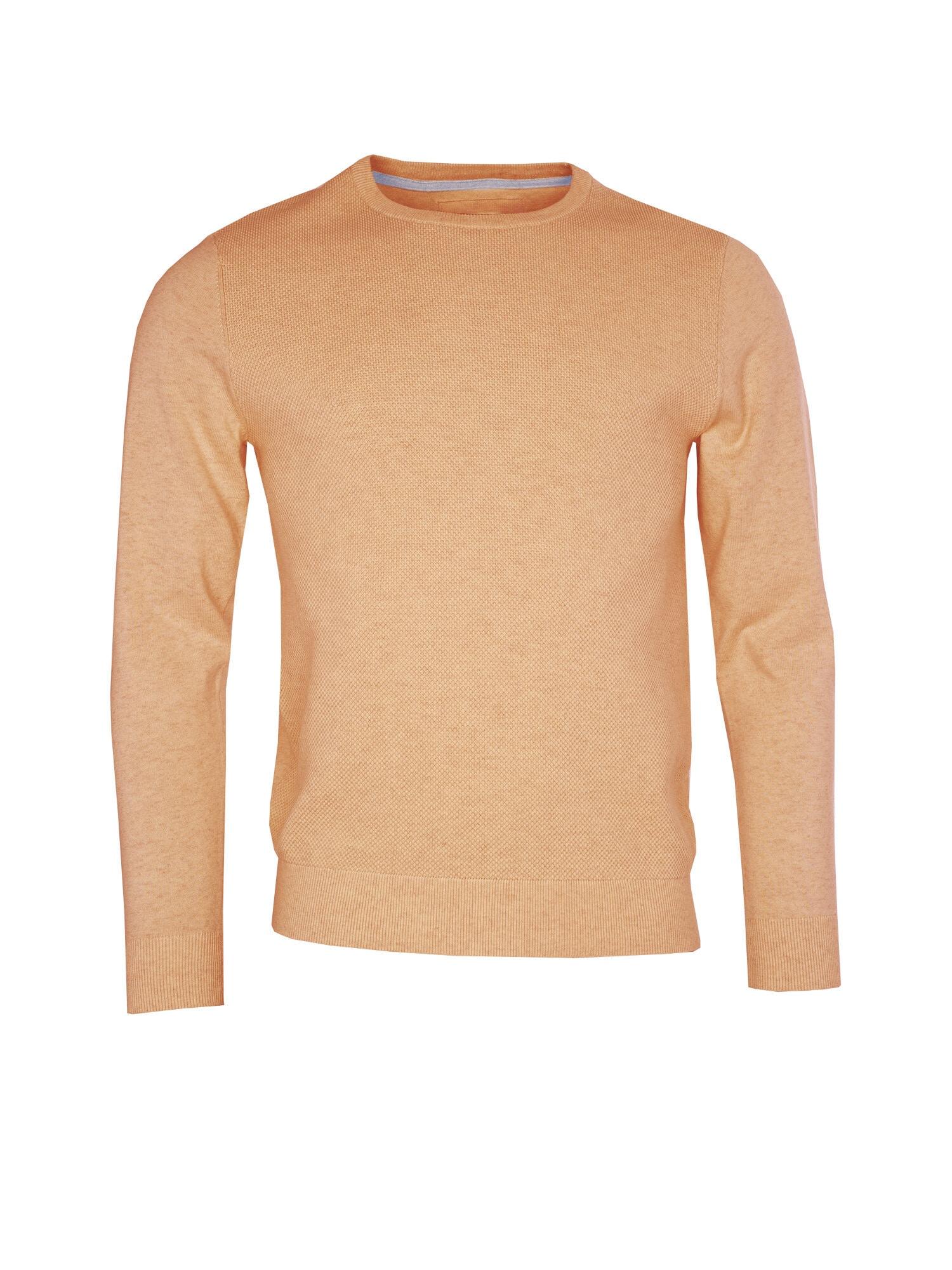 O-neck Struktur Tröja - Lt Orange