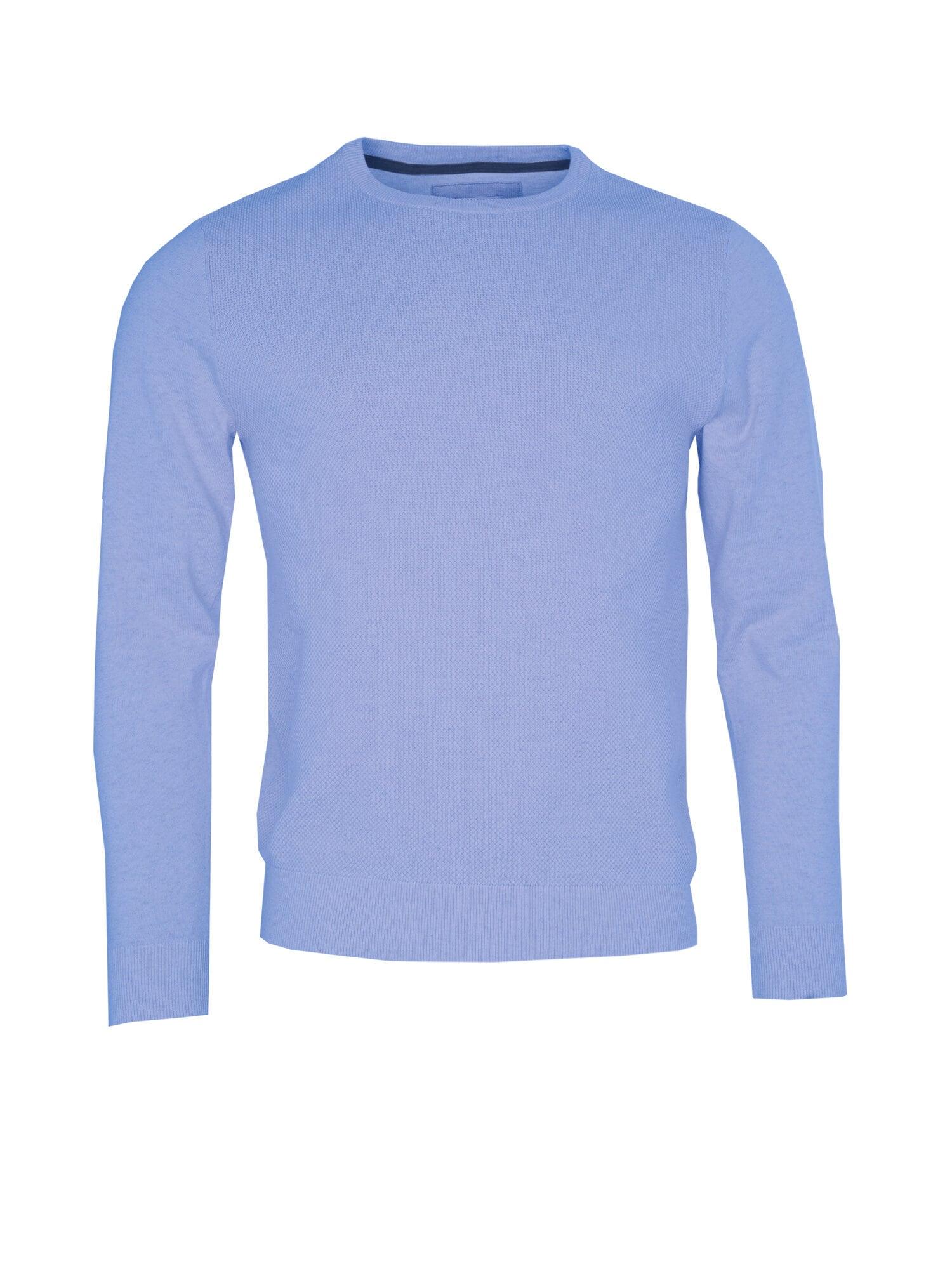 O-neck Struktur Tröja - Lt Blue