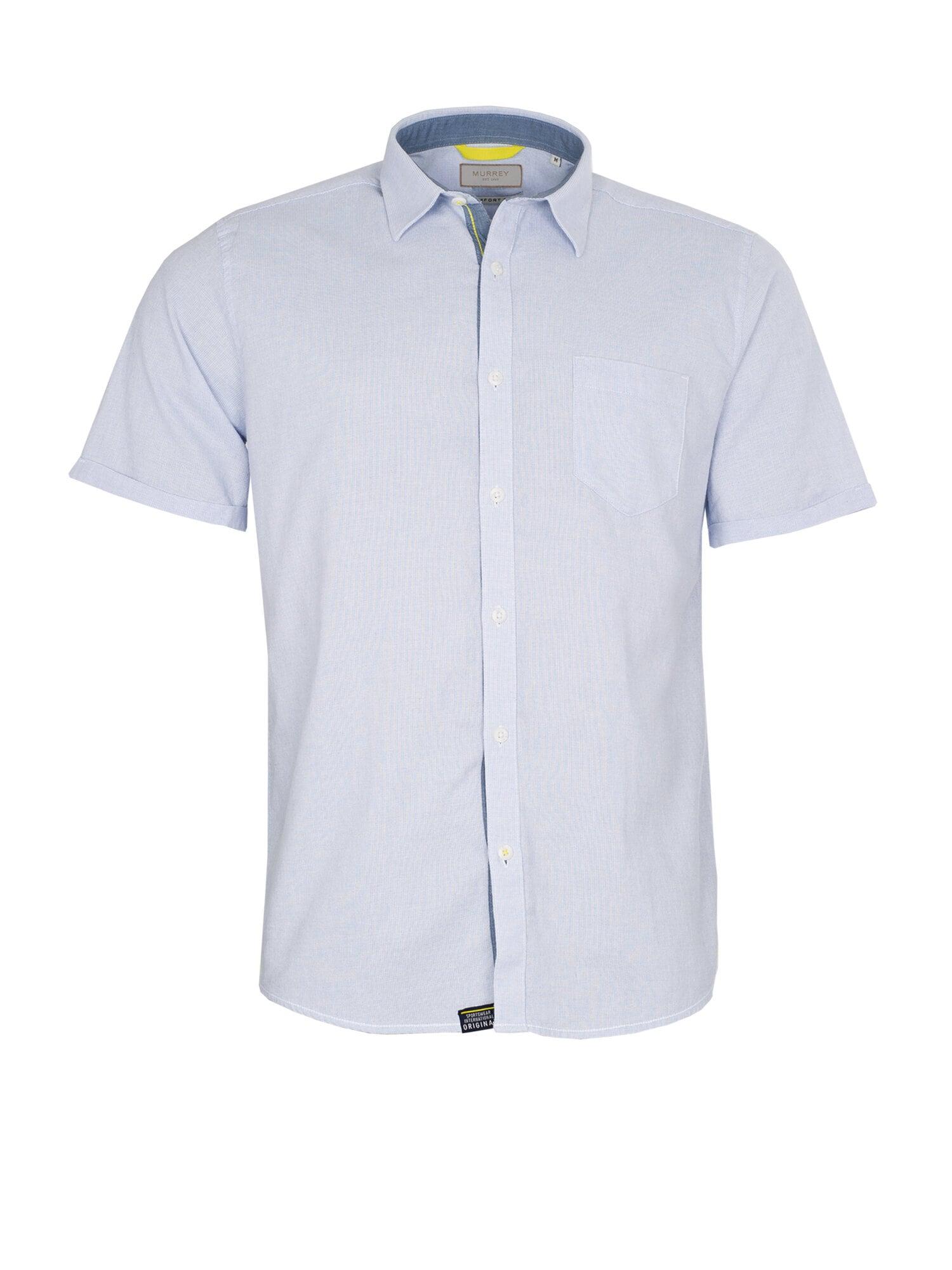Kortärmad Skjorta I Bomull - Lt Blue