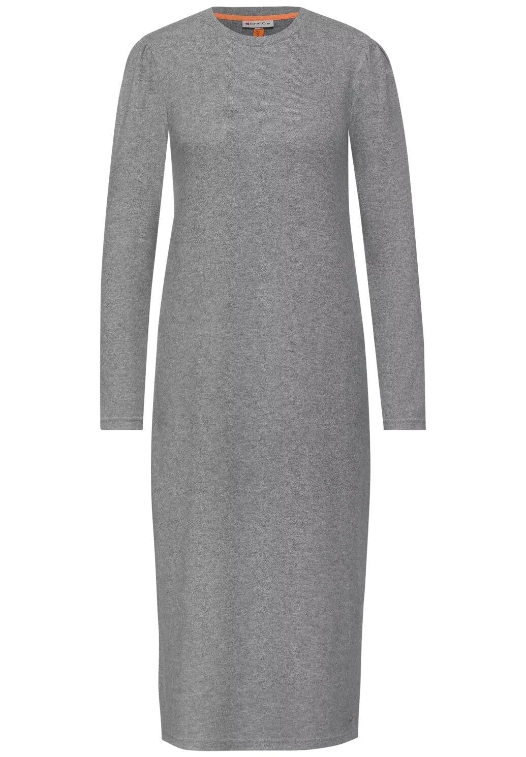 Klänning med puffärmar - Frost Grey Mel