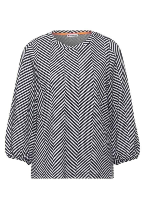 Topp I Grafiskt Mönster - Dk Shaded Grey