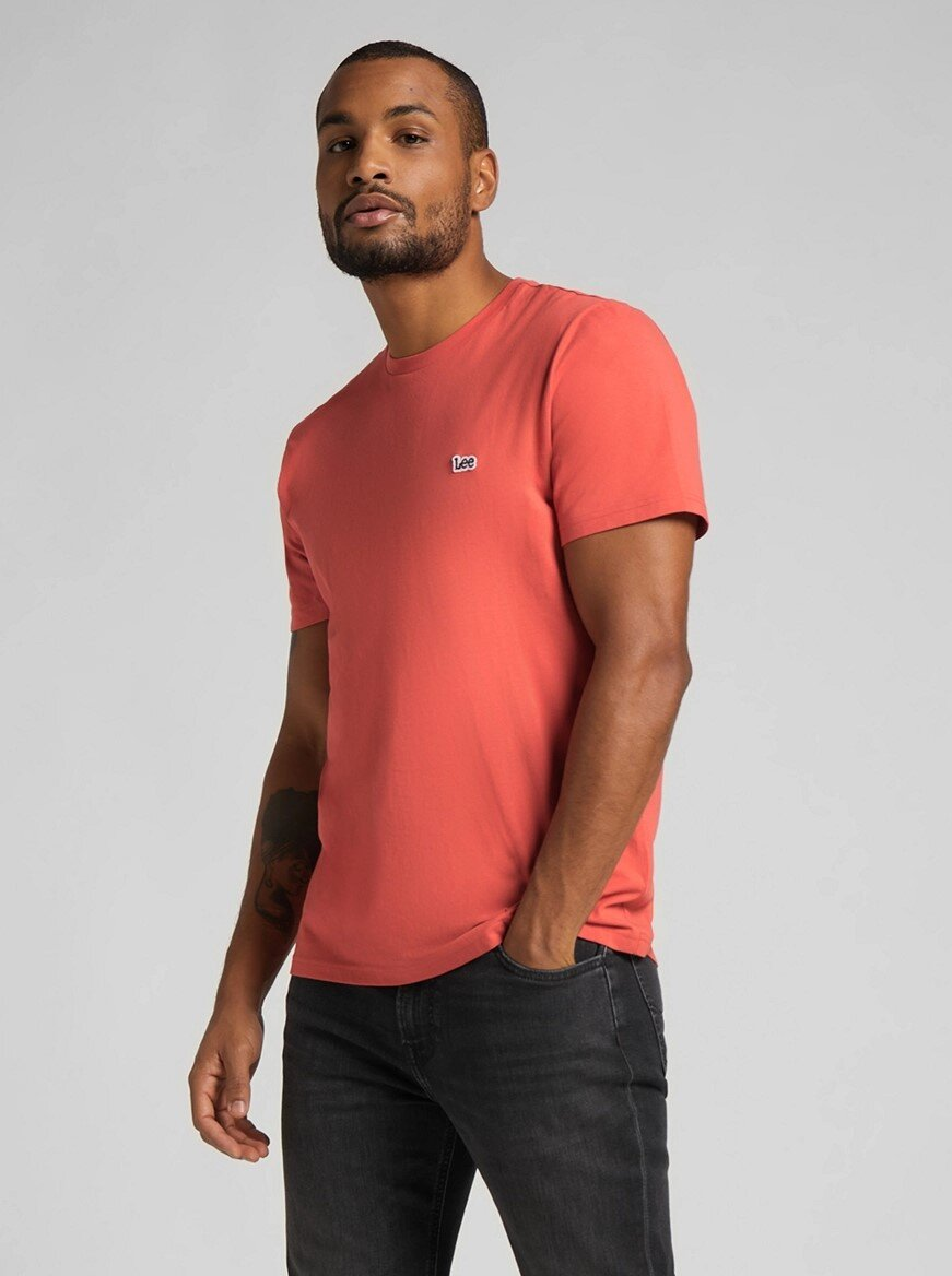 Patch Logo T-Shirt - Washed Red