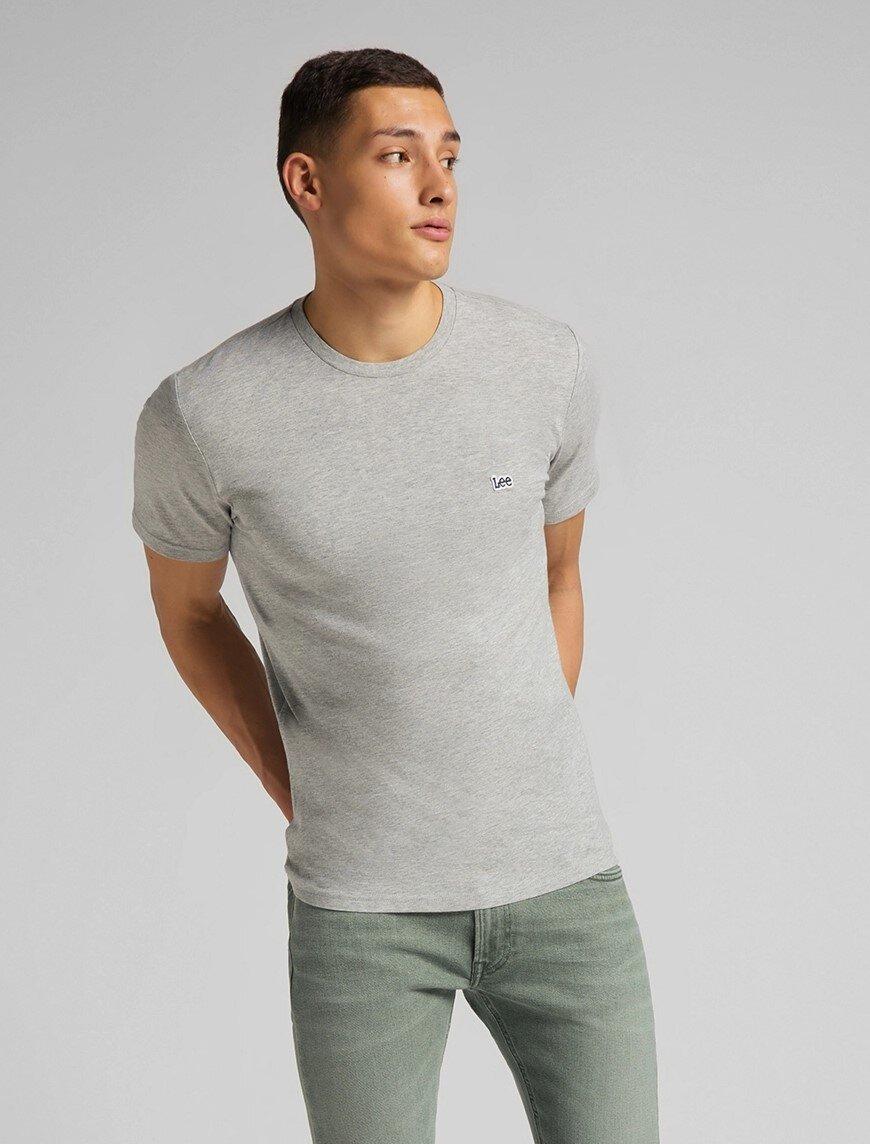 Patch Logo T-Shirt - Grey Mele