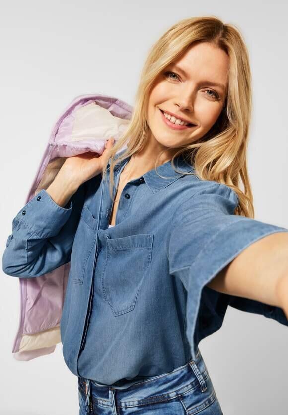 Jeansskjorta i Lyocell - Denim