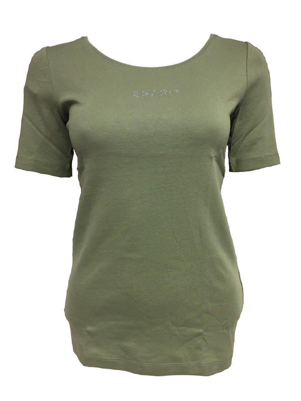 T-shirt Med Strasslogga - Lt Khaki