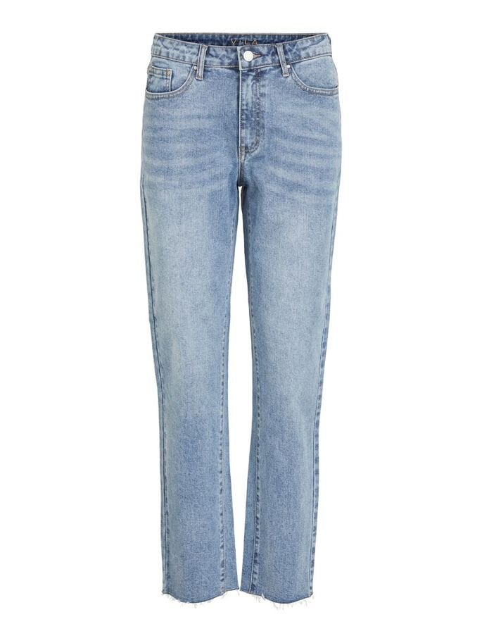 Vistray Avklippta Jeans - Light Blue Denim