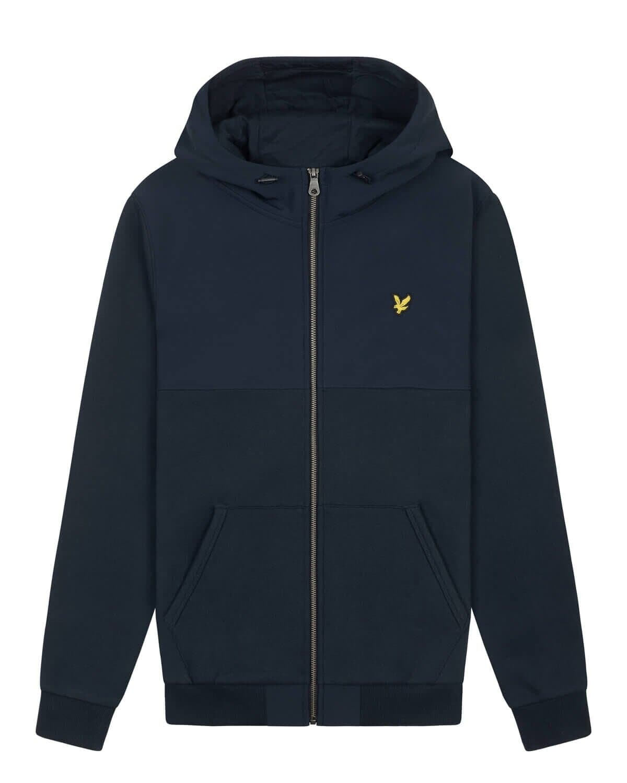 Softshell Jersey Zip Hood - Dark Navy