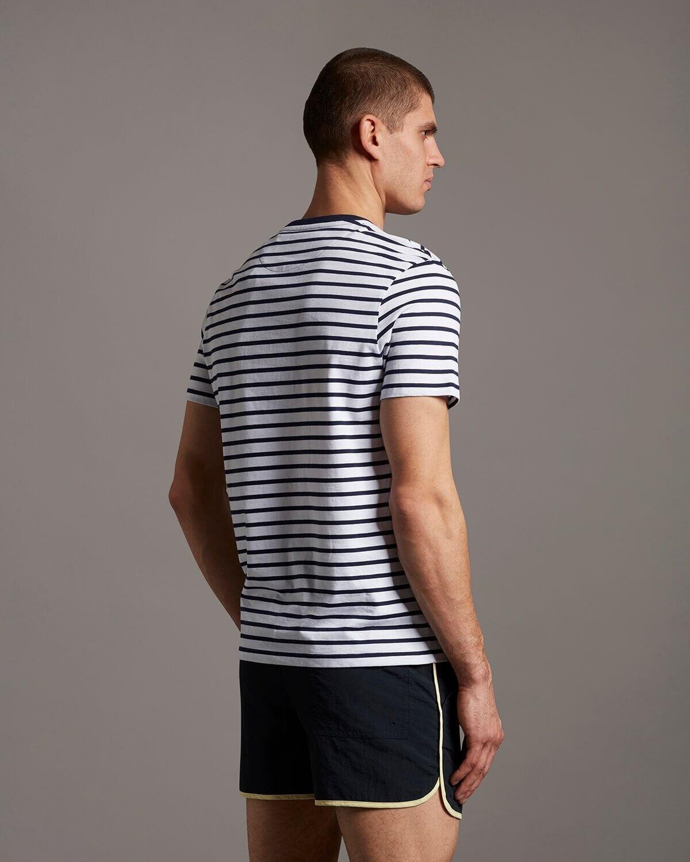 Breton stripe T-shirt - Navy/White