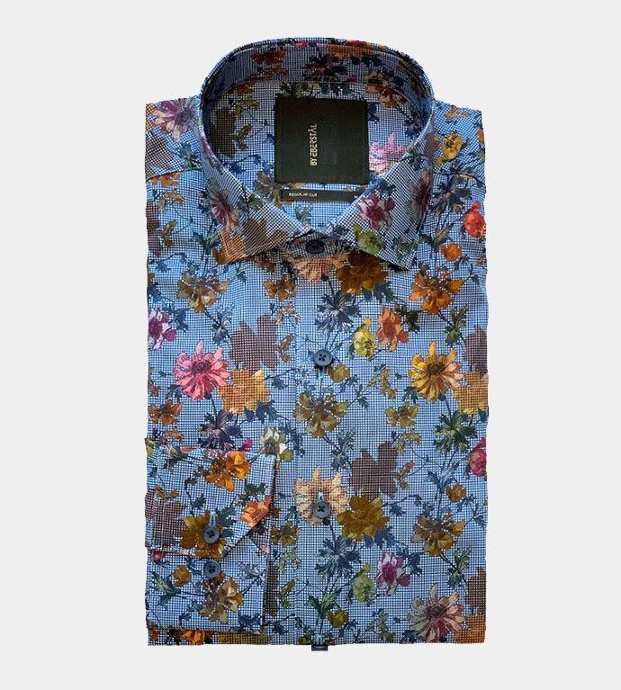Blommig Skjorta - Blommig Blå