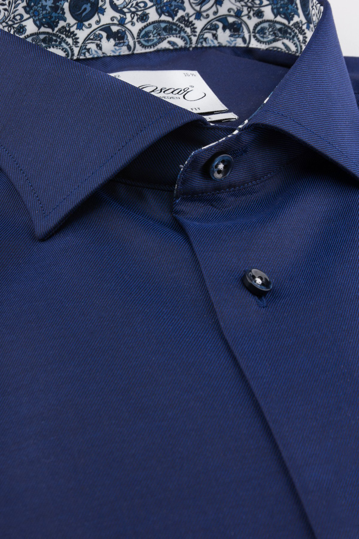 Skjorta Wrinkle Free - Indigo Blue Plain