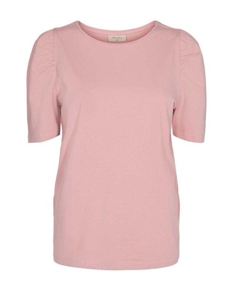Fenja T-Shirt med puffärm - Capers