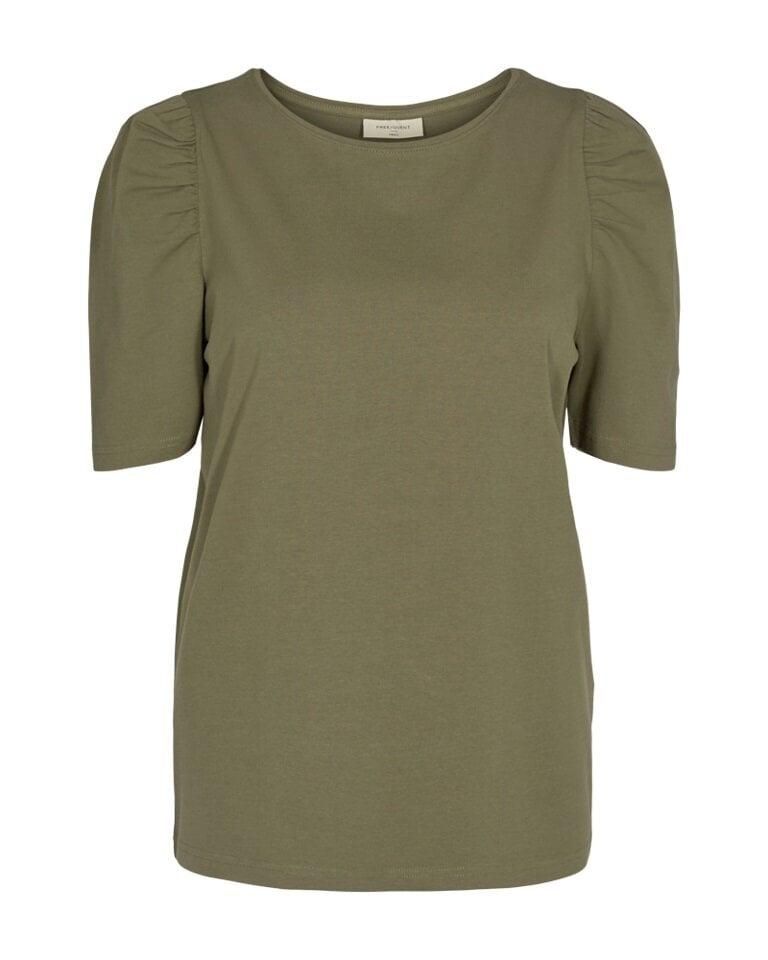 Fenja T-Shirt med puffärm - Pale Mauve