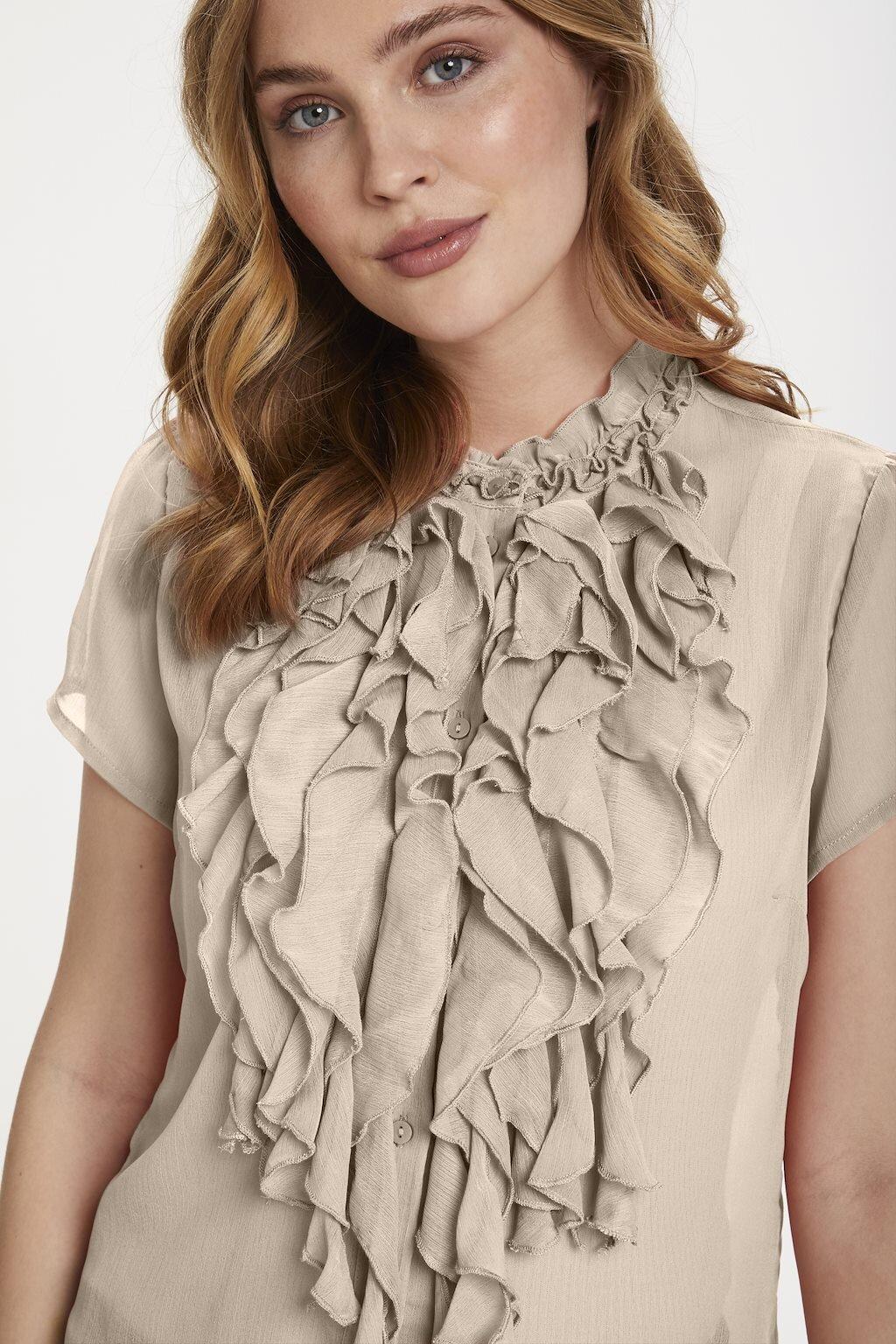Lilly shirt Krås - Creme