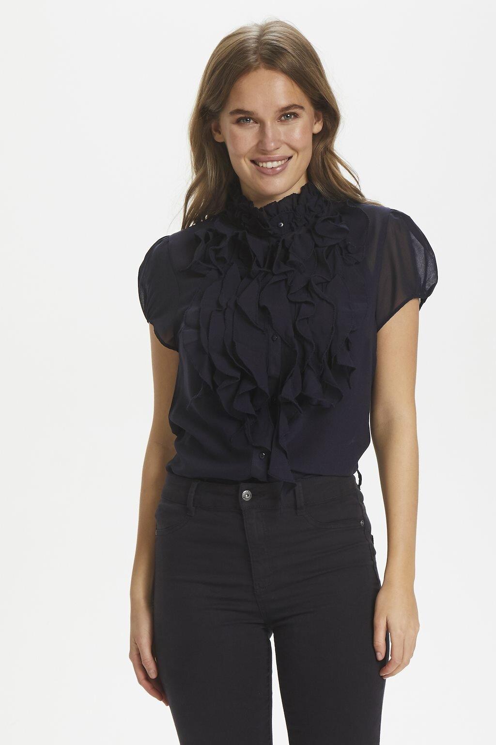 Lilly shirt Krås - Black