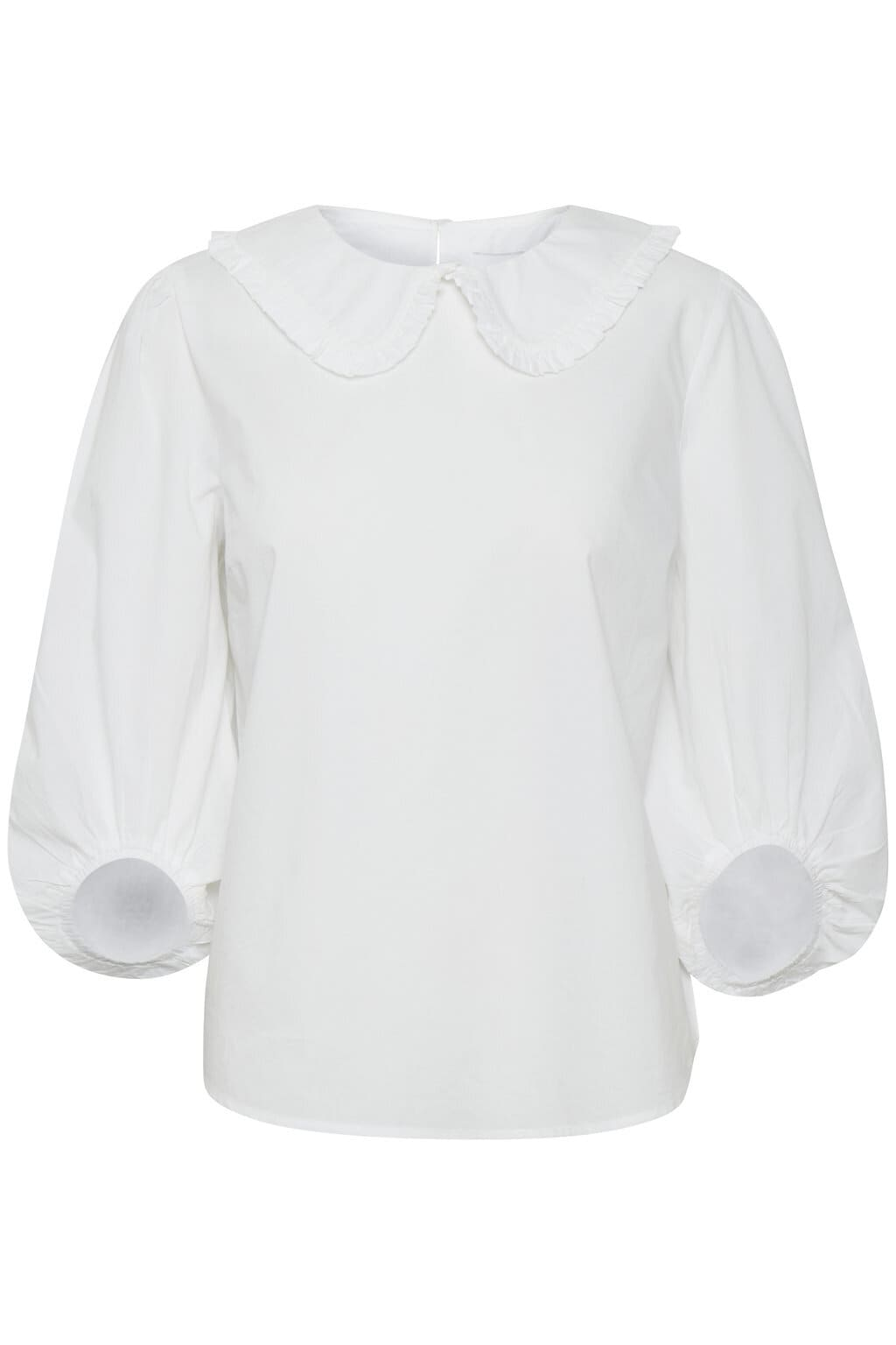 Federica Blouse med krage - Bright White