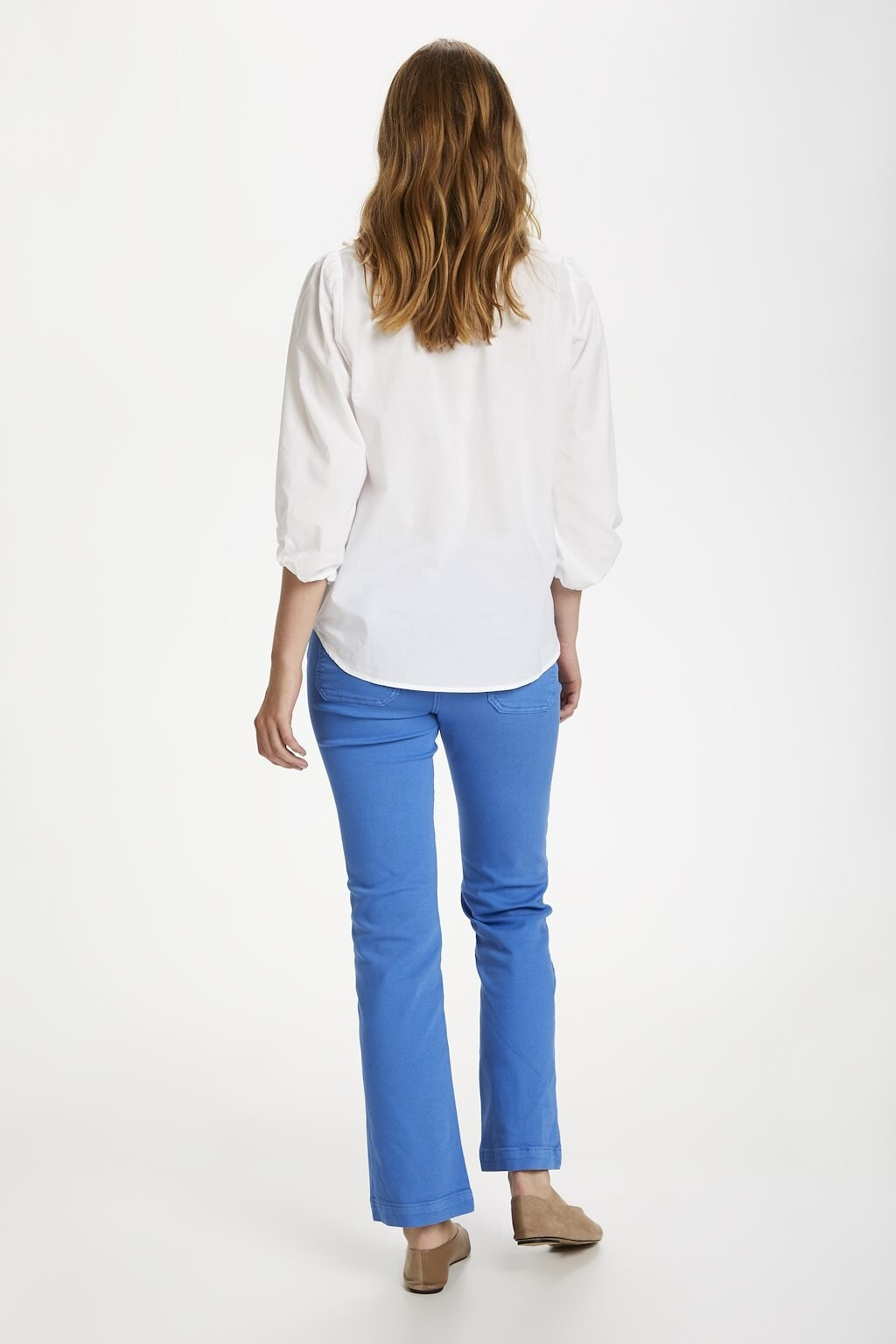 Federica Blouse med krage - Bright White