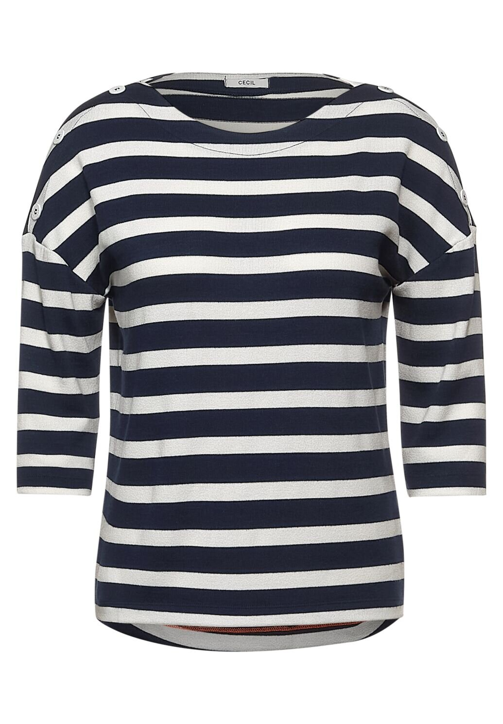 Button Stripe Shade Tröja - Deep Blue