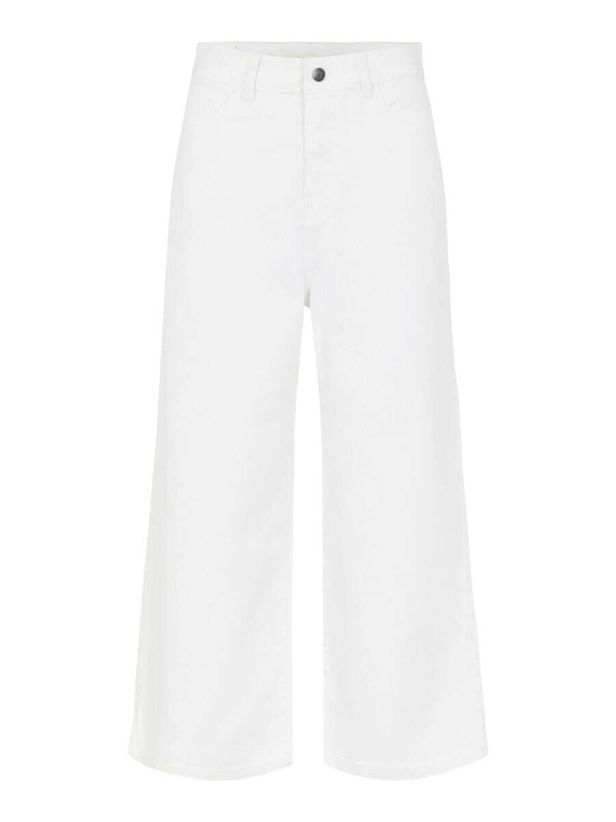 Vita Höga Culotte Jeans  - Gardenia