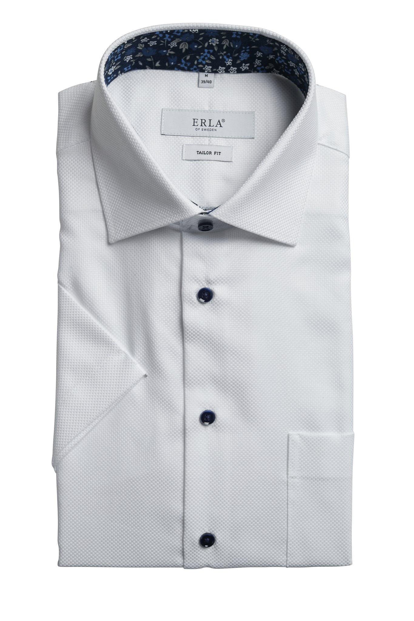 Kortärmad Skjorta Easy Care - White