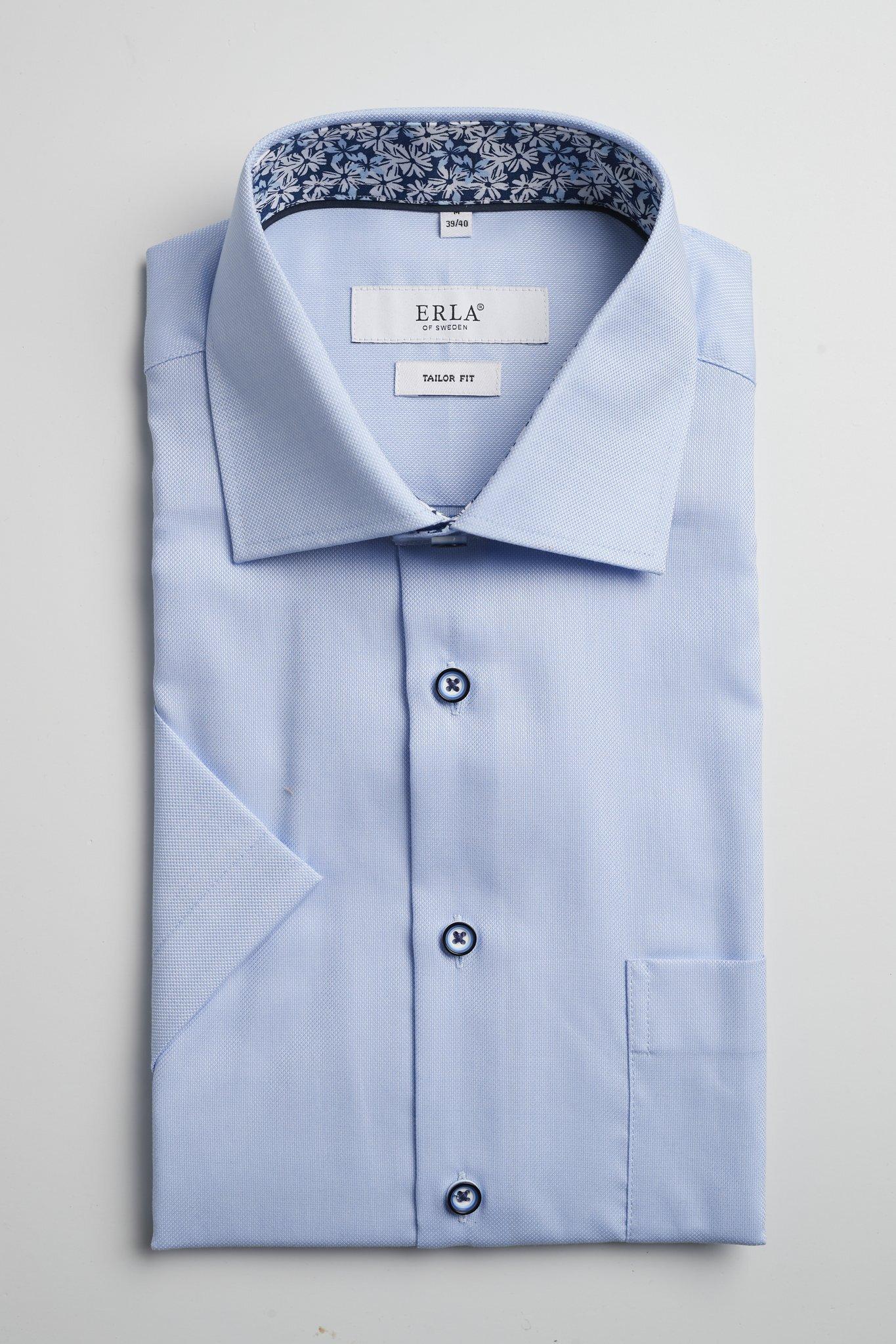 Kortärmad Skjorta Easy Care - Lt Blue