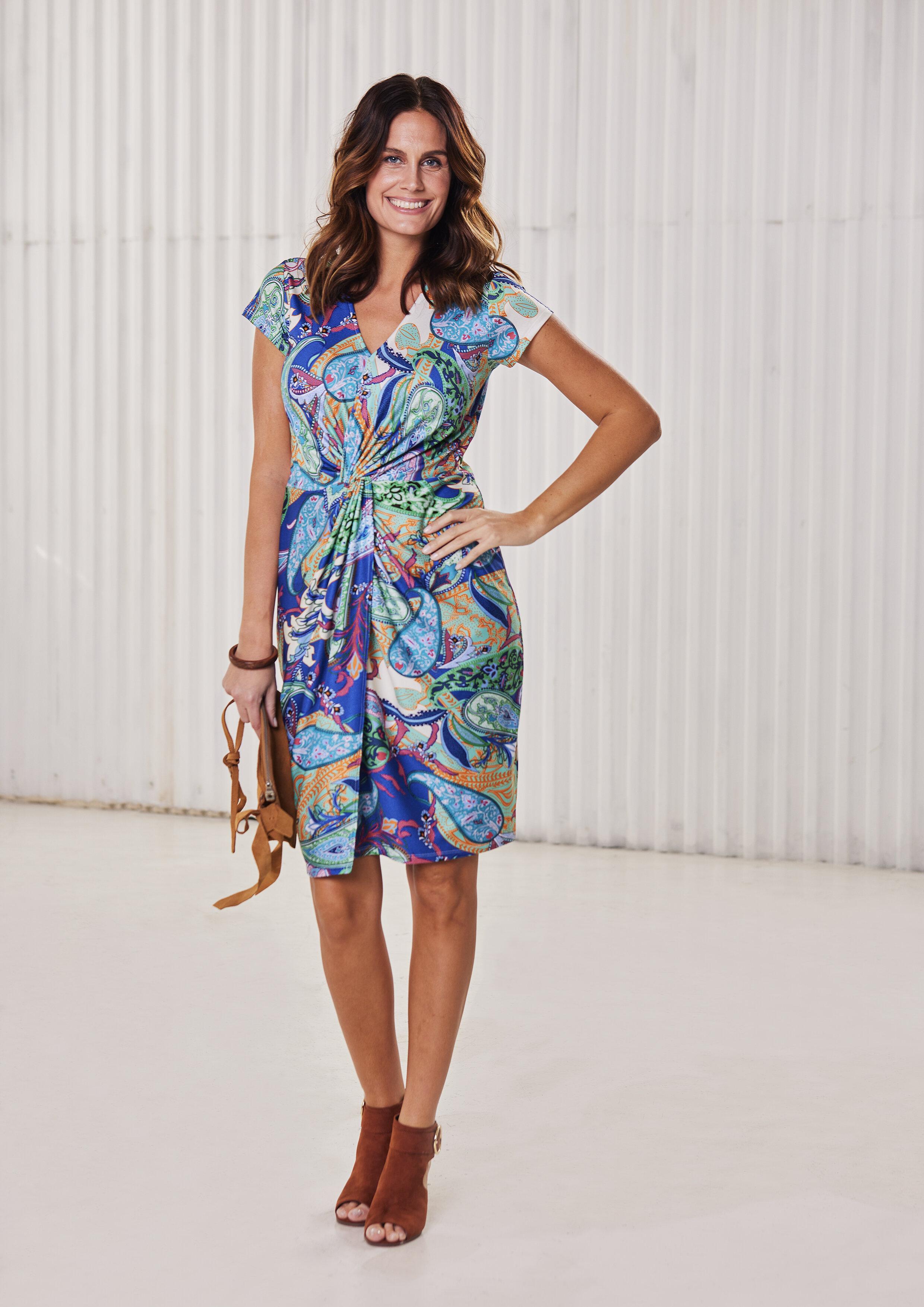 Isabell Omlottklänning - Multicolor