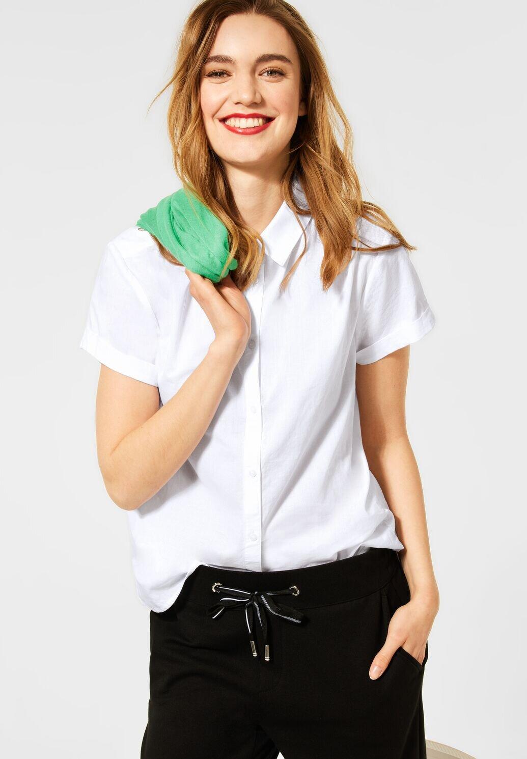 Kortärmad Bomullskjorta - White