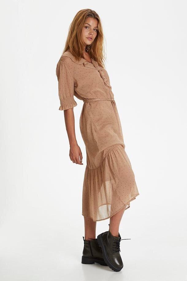 Chiffongklänning Volang - Praline Dot