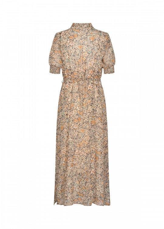 Blommig Skjortklänning - Tan Combi